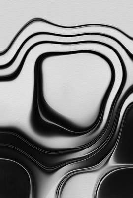 Geometric Abstraction Digital Art - Flow by Jack Zulli