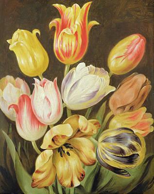 Yellow And Purple Painting - Flower Study by Johann Friedrich August Tischbein