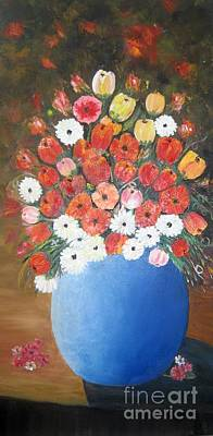 Painting - Flower Vase by Usha Rai