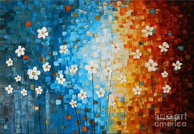 Flowers After Rain Art Print by Denisa Laura Doltu
