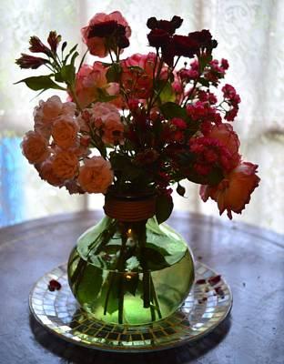 Flowers By A Window Original