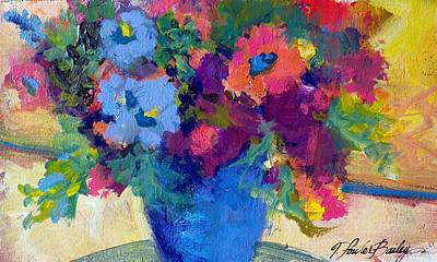 Flowers For A Blue Lady Original by Therese Fowler-Bailey