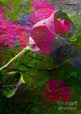 Mixed Media - Flowers by Marvin Blaine