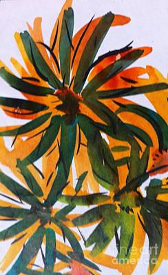 Target Threshold Watercolor - Flowers by Michelle Deyna-Hayward