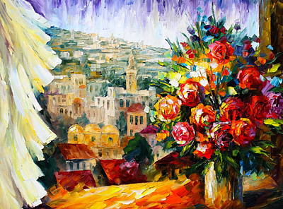 Judaic Painting - Flowers Of Jerusalem by Leonid Afremov