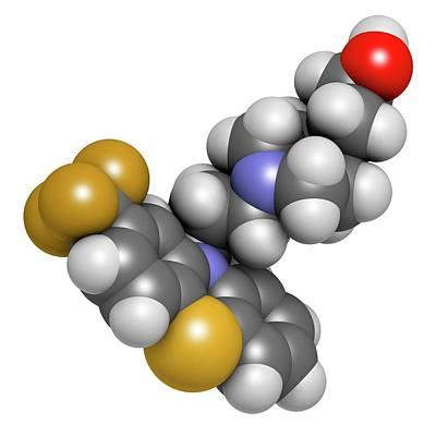 Molecule Photograph - Fluphenazine Antipsychotic Drug Molecule by Molekuul