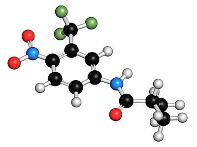 Chemical Photograph - Flutamide Prostate Cancer Drug Molecule by Molekuul