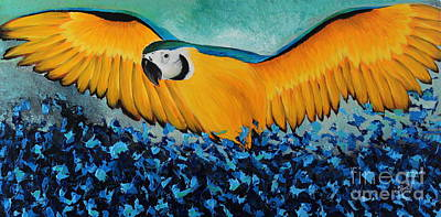 Painting - Yellow Macaw by Preethi Mathialagan