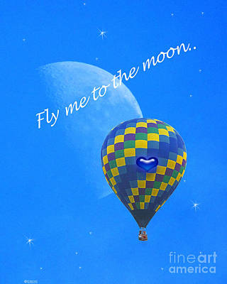 Digital Art - Fly Me To The Moon by Lizi Beard-Ward