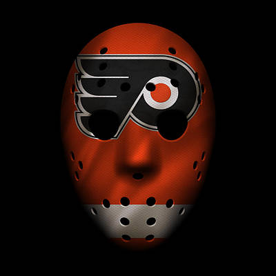 Hockey Photograph - Flyers Jersey Mask by Joe Hamilton