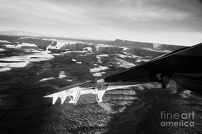 flying over land approaches to the rim of the grand canyon Arizona USA Art Print by Joe Fox
