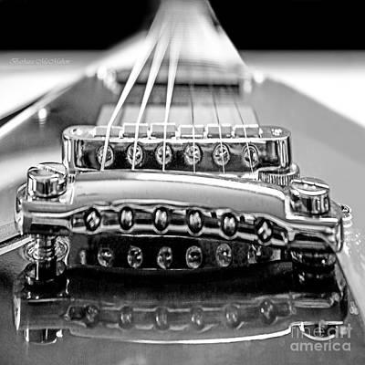 Heavy Metal Photograph - Flying V Strings by Barbara McMahon