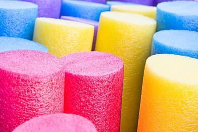 Foam Tubes Art Print by Tom Gowanlock