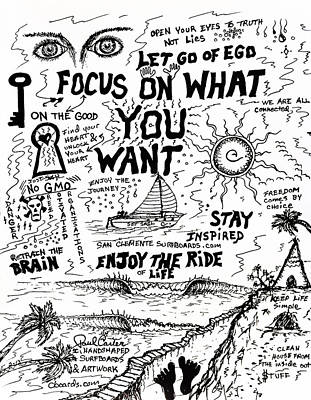 Focus On What You Want Art Print