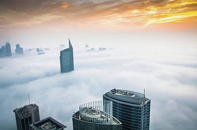 Fog In Dubai Art Print by Umar Shariff Photography