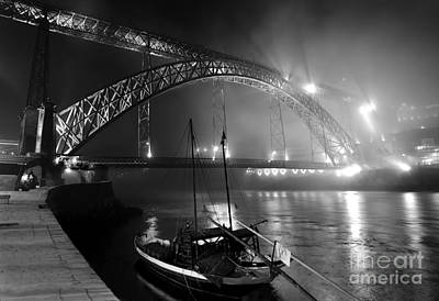 Photograph - Fog Over The Pier And Iconic Bridge - O Porto - Portugal by Carlos Alkmin