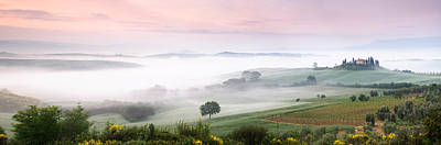 Foggy Field, Villa Belvedere, San Art Print by Panoramic Images