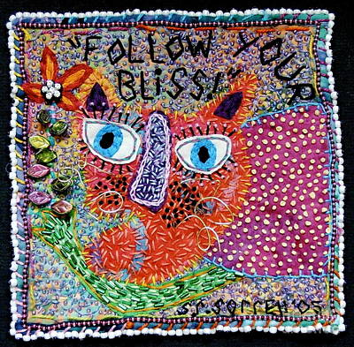 Tapestry - Textile - Follow Your Bliss by Susan Sorrell