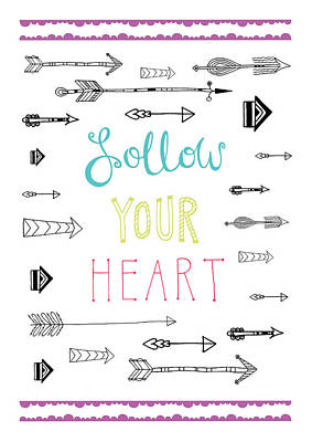 Arrow Photograph - Follow Your Heart by Susan Claire