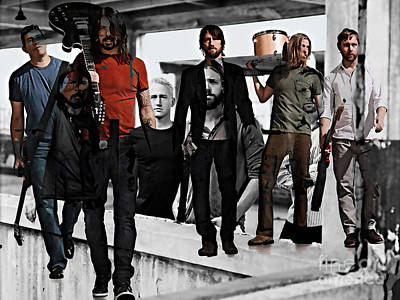 Foo Fighters Mixed Media - Foo Fighters by Marvin Blaine
