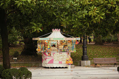 Food Stand In A Park, Campo De San Art Print
