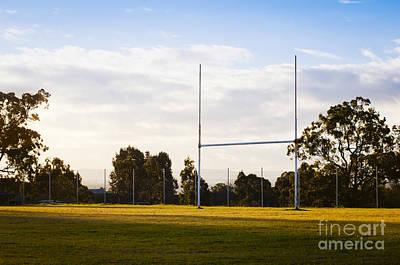 Football Photograph - Football Goals by Tim Hester