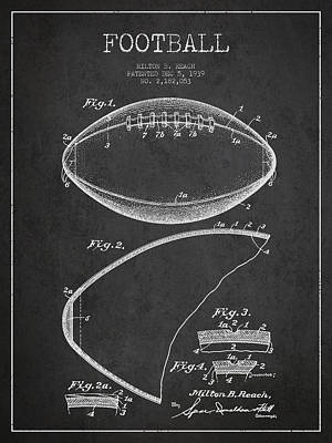Football Digital Art - Football Patent Drawing from 1939 by Aged Pixel