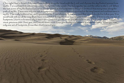 Photograph - Footprints In The Sand by Amber Kresge