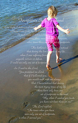 Photograph - Footprints In The Sand by Jennifer Muller