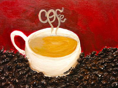 For The Coffee Lover Art Print by Melissa Torres