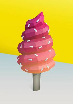 Ice Cream Digital Art - For The Lols by Pollyanna Illustration