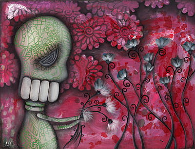 Pop Surrealism Painting - For You by  Abril Andrade Griffith