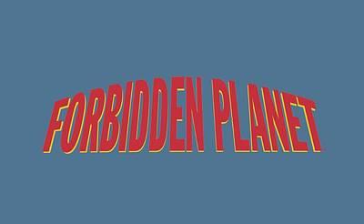 1950s Movies Digital Art - Forbidden Planet - Logo by Brand A