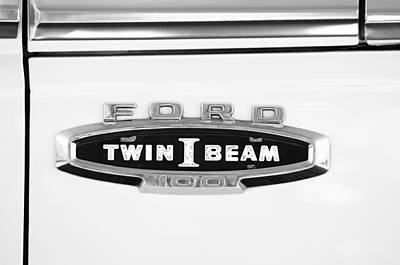 Ford 100 Twin I Beam Truck Emblem Art Print