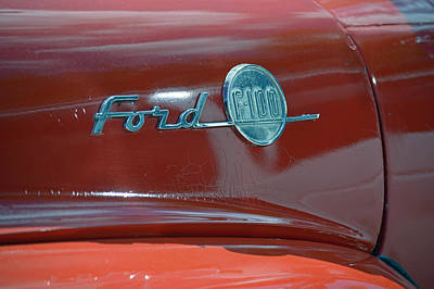 Photograph - Ford F100 by Frederic BONNEAU Photography