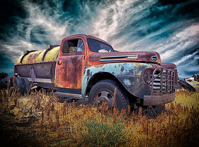 Photograph - Ford F6 End Of The Road Texas by Greg Kluempers