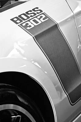 Ford Mustang Boss 302 Emblem Art Print by Jill Reger