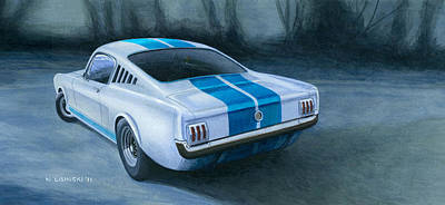 Mustang Gt350 Painting - Ford Mustang Gt350 by Norb Lisinski