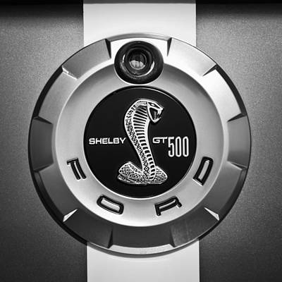American Muscle Photograph - Ford Shelby Gt 500 Cobra Emblem by Jill Reger