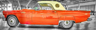 Ford Photograph - Ford Thunderbird 3 Red by John Straton