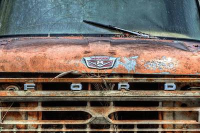 Antique Ford Truck Grill Photograph - Ford Tough by JC Findley