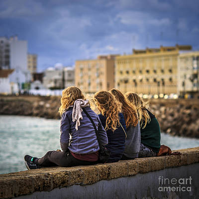 Foreign Students Cadiz Spain Art Print