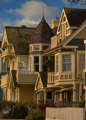 Digital Art - Forest Ave. Victorians - Pacific Grove Ca by Jim Pavelle