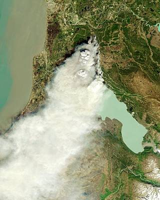Forest Fire Art Print by Nasa Earth Observatory