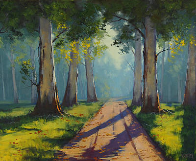 Roads Painting - Forest Gums by Graham Gercken