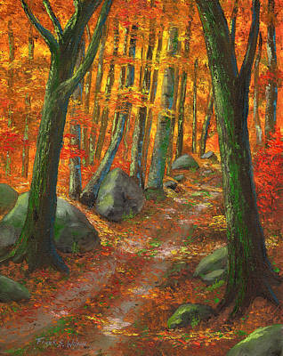 Painting - Forest Light by Frank Wilson