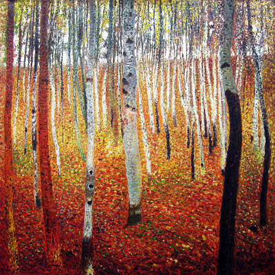 Painting - Forest Of Beech Trees by Gustav Klimt