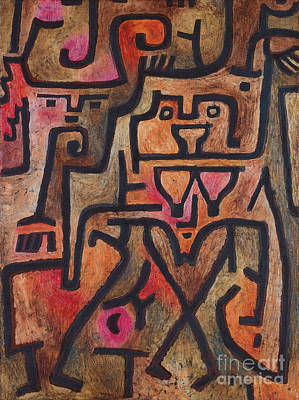 Paul Klee Painting - Forest Witches by Celestial Images