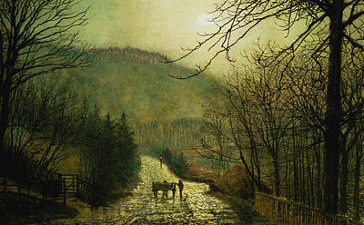 Forge Valley Art Print by John Atkinson Grimshaw