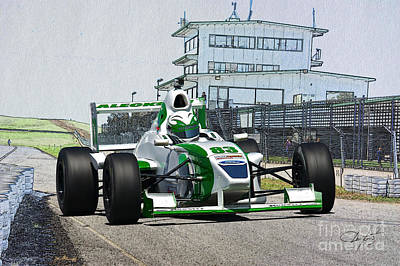Automotive Art Series Photograph - Formula Atlantic Race Car by Dave Koontz